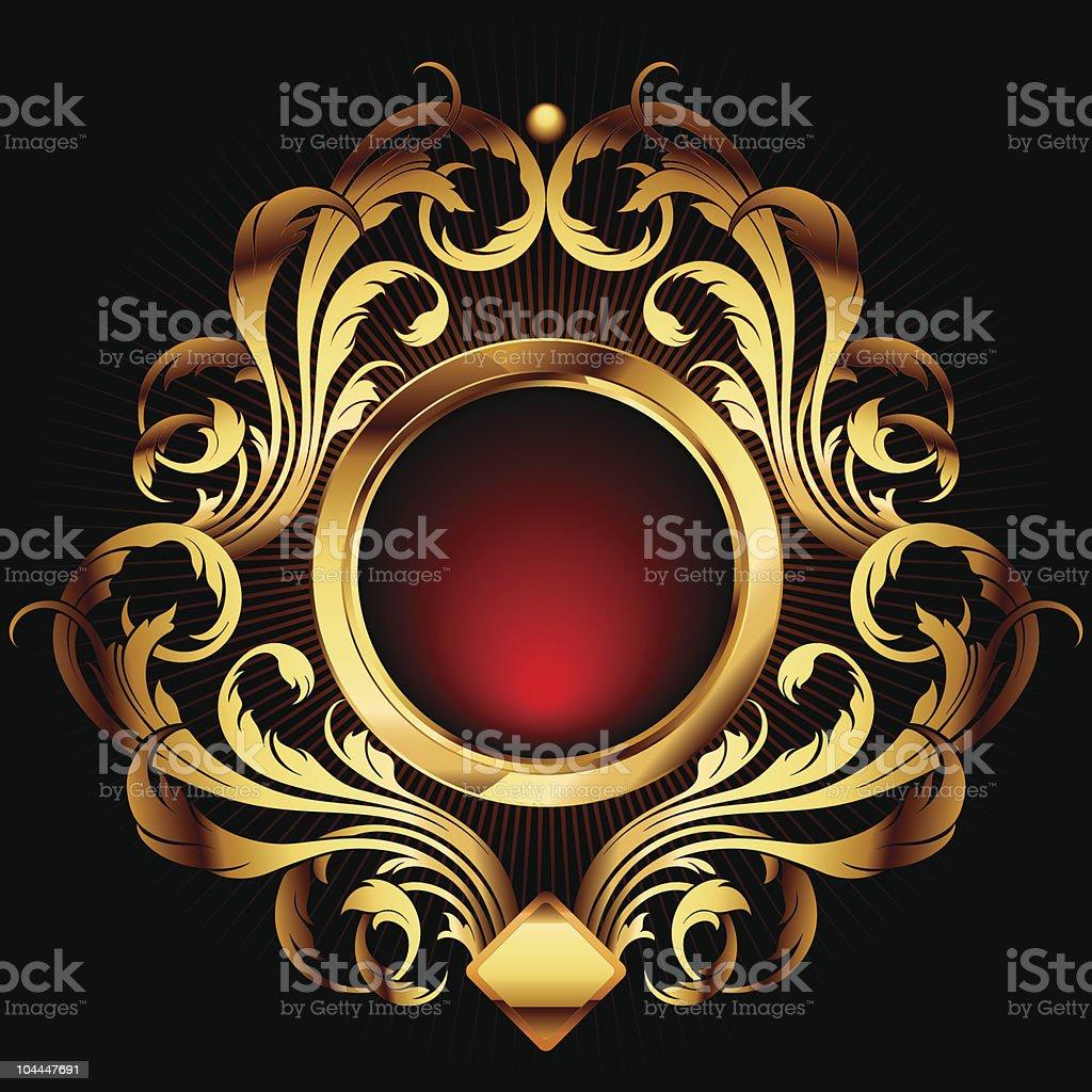 ornamental shield royalty-free stock vector art