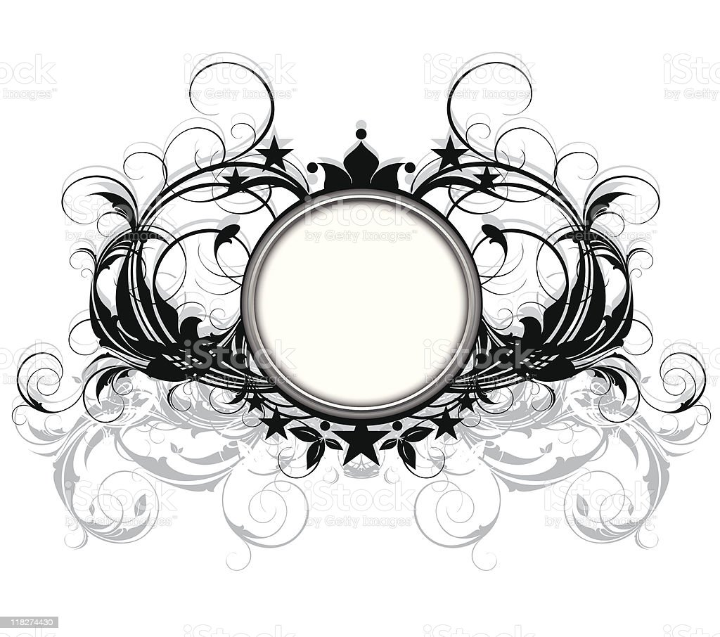 ornamental shield royalty-free stock vector art