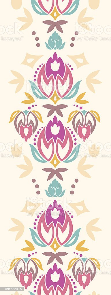 Ornamental Summer Vertical Seamless Pattern Border royalty-free stock vector art