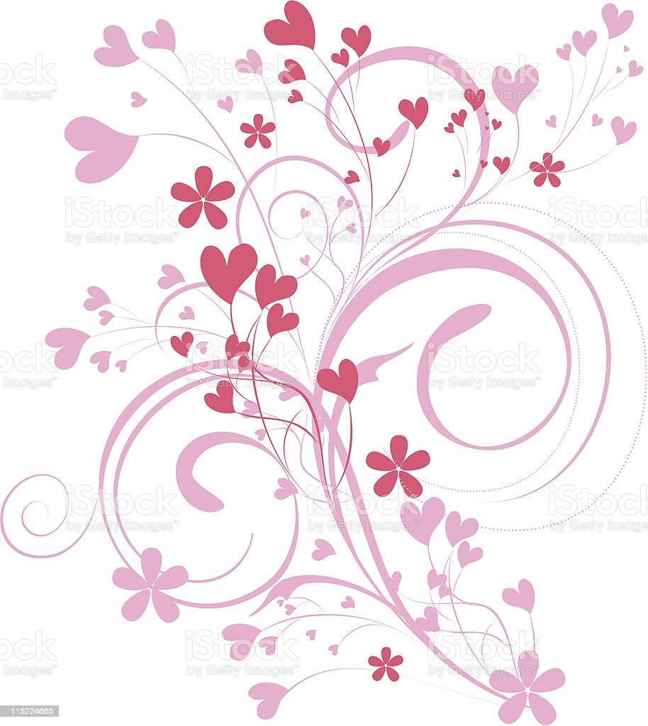 ornamental valentine background royalty-free stock vector art