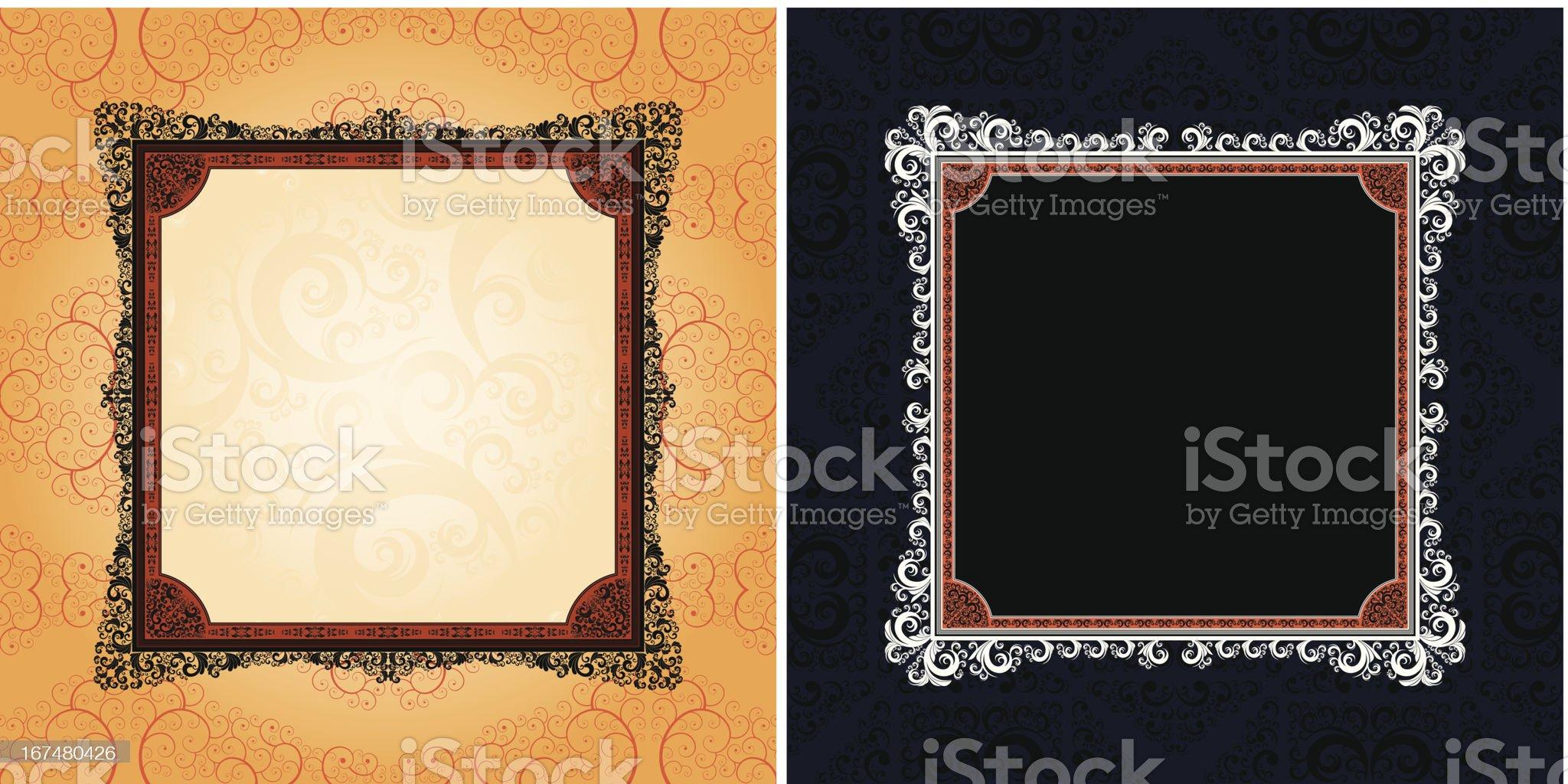 ornamented vector frames royalty-free stock vector art