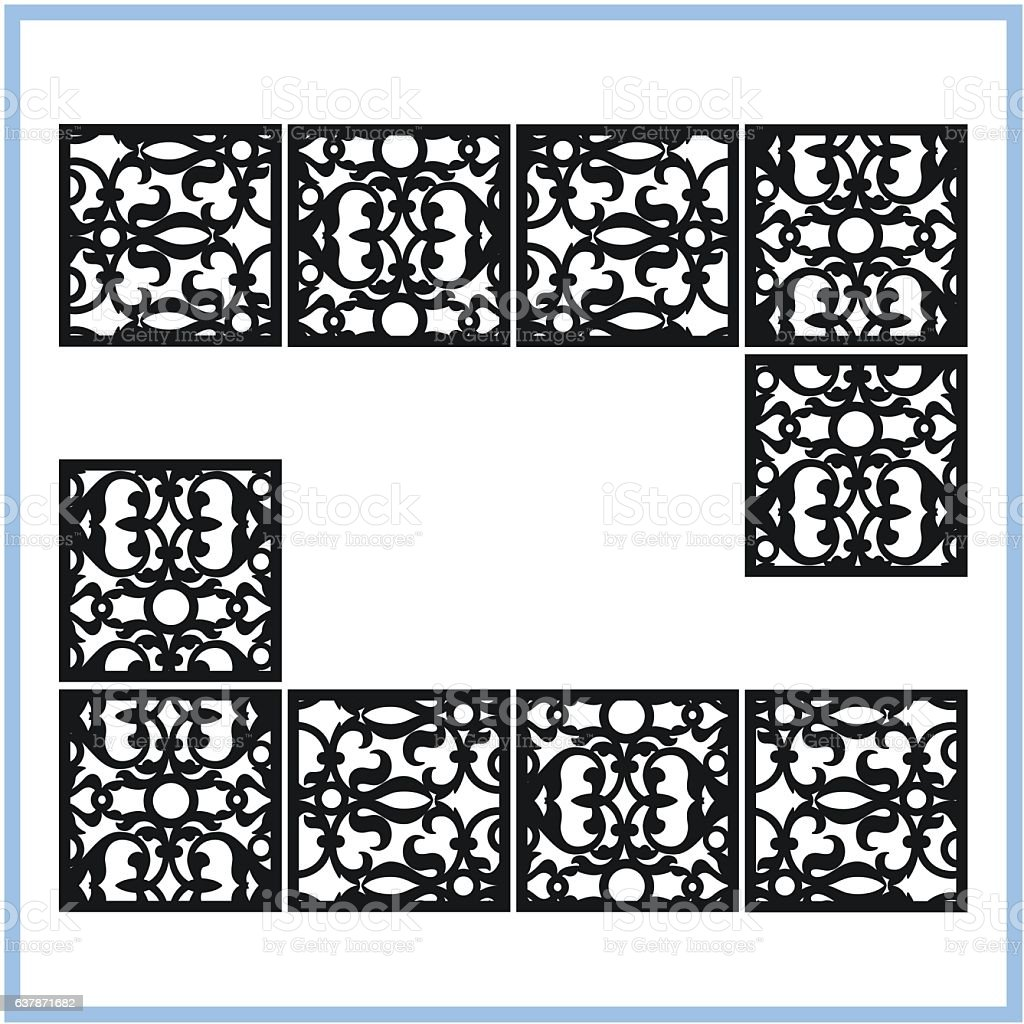 Ornaments for laser cutting -eps10 vector art illustration