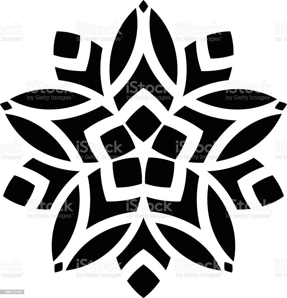 Ornaments Mandala Floral Silhouette stock vector art