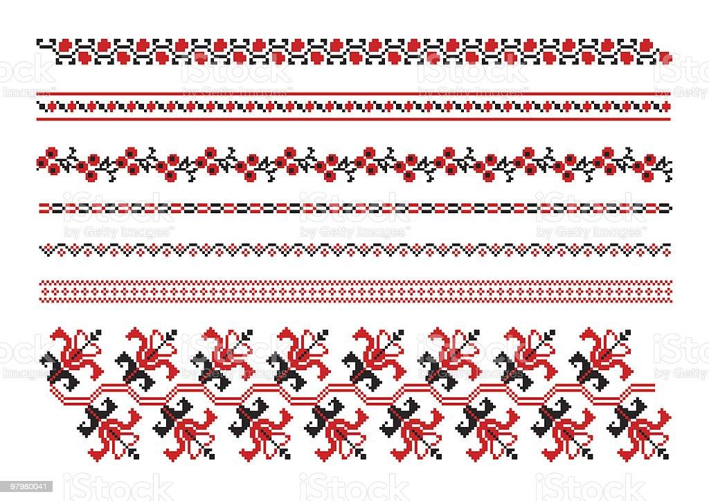 ornaments of ukrainian embroidery royalty-free stock vector art