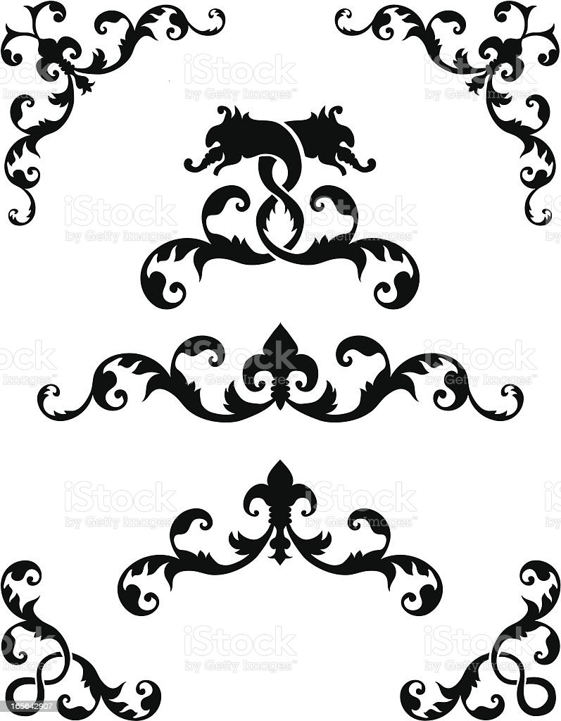 Ornaments royalty-free stock vector art