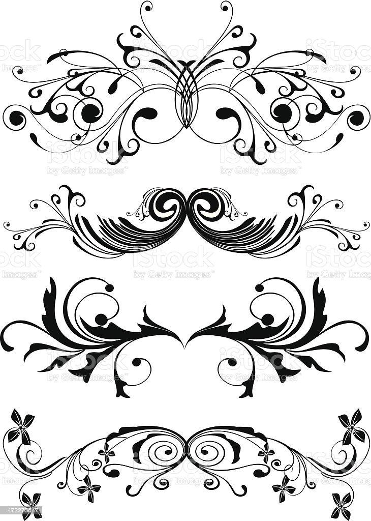 ornaments vector art illustration