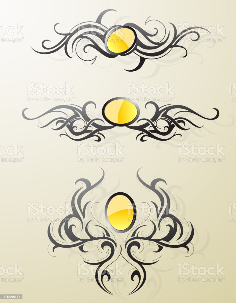Ornaments royalty-free stock vector art