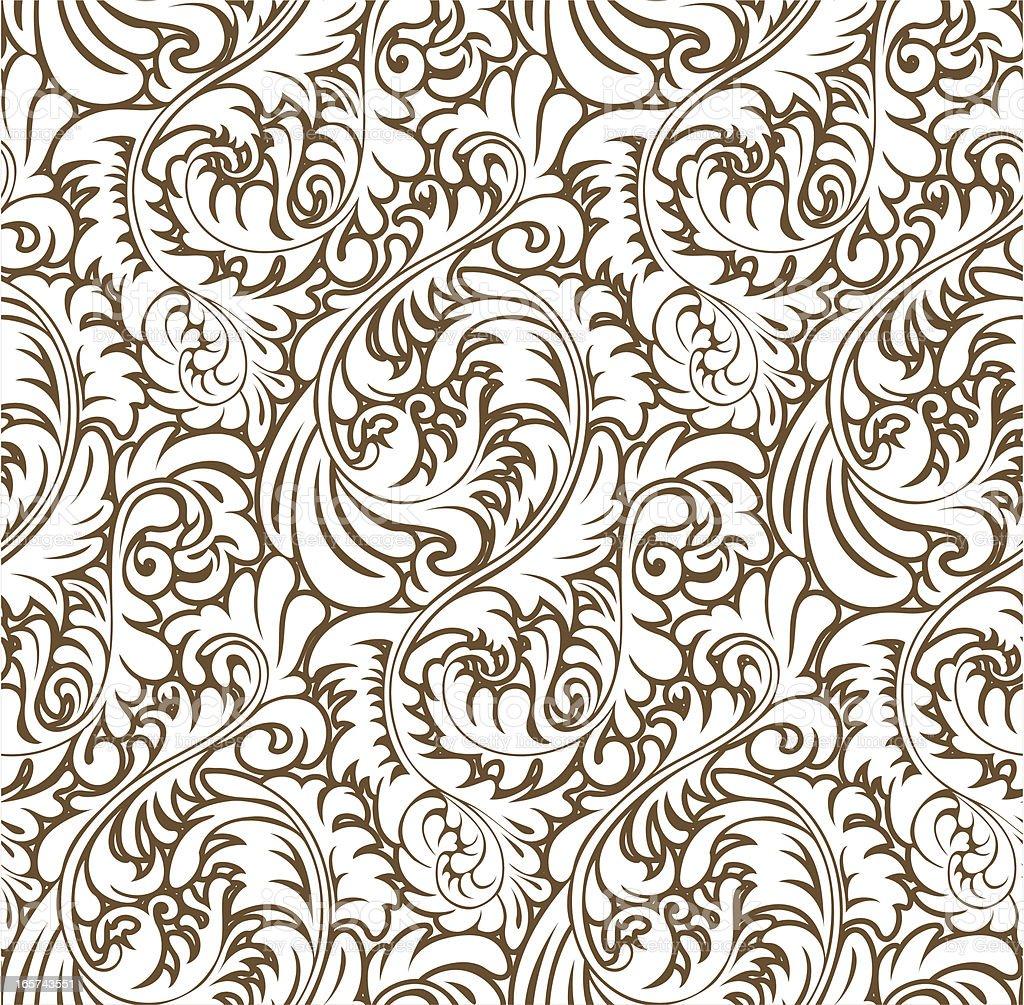 Ornate Abstract Baroque Pattern (Seamless) vector art illustration