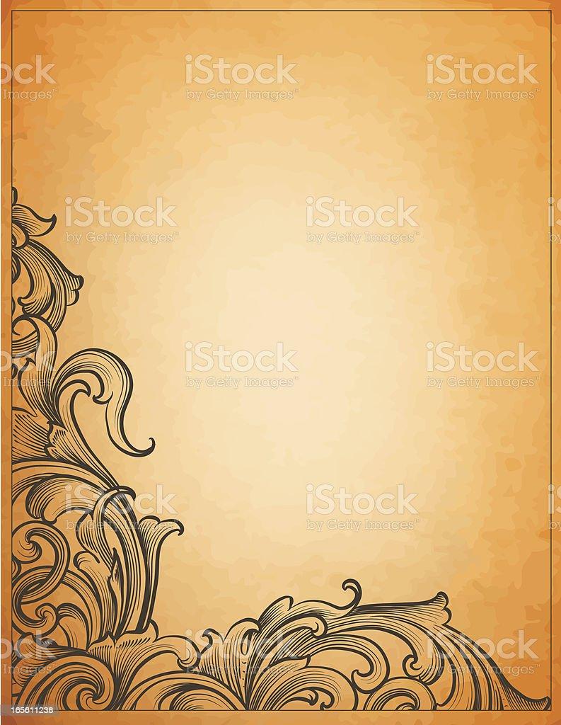 Ornate Antique Corner royalty-free stock vector art