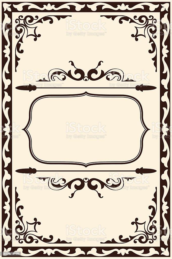 Ornate art page vector art illustration