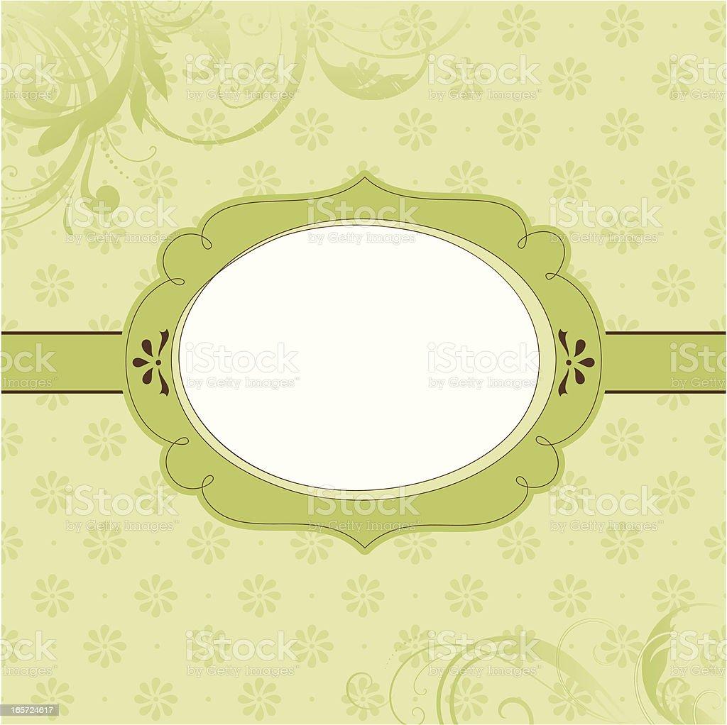 Ornate Banner Green royalty-free stock vector art