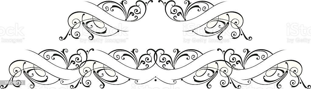 Ornate Banner Scrolls royalty-free stock vector art