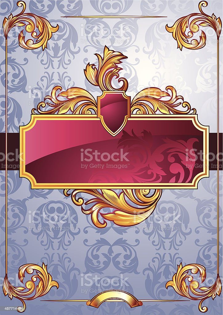 Ornate blank royalty-free stock vector art