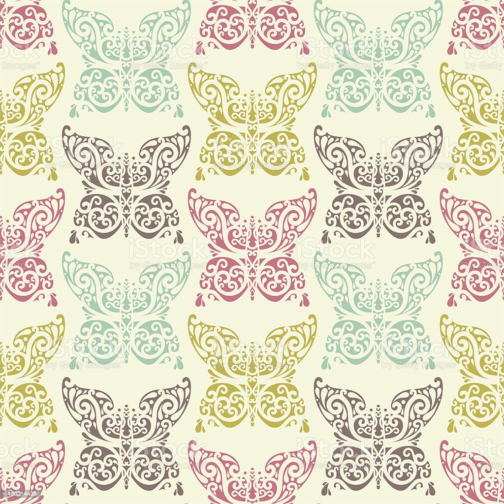 ornate butterfly pattern royalty-free stock vector art