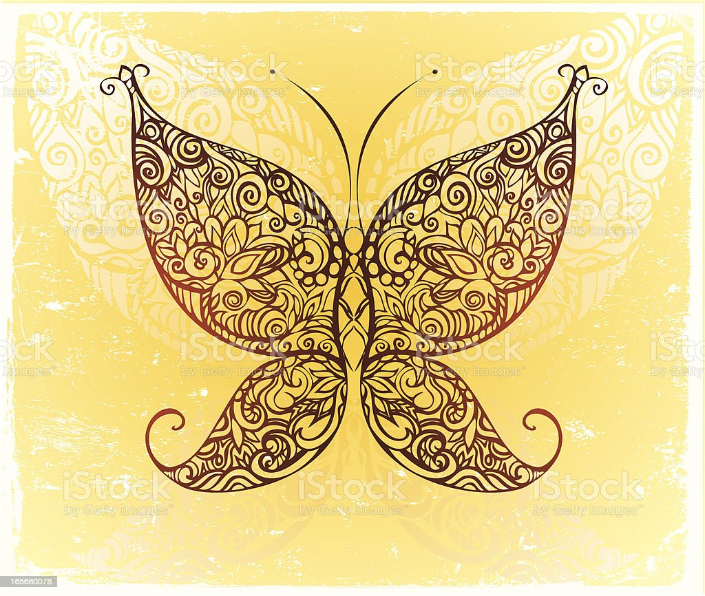 ornate butterfly royalty-free stock vector art