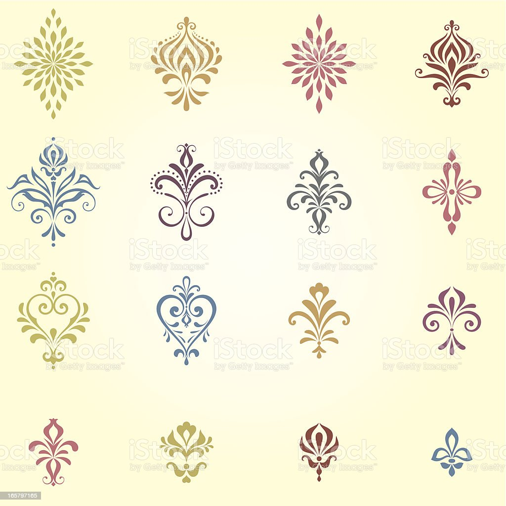 Ornate Calligraphic Elements royalty-free stock vector art