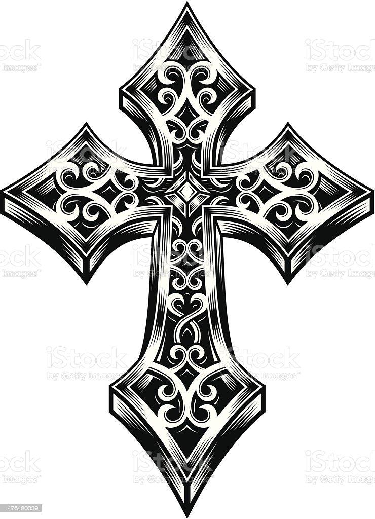 Ornate Celtic Cross royalty-free stock vector art