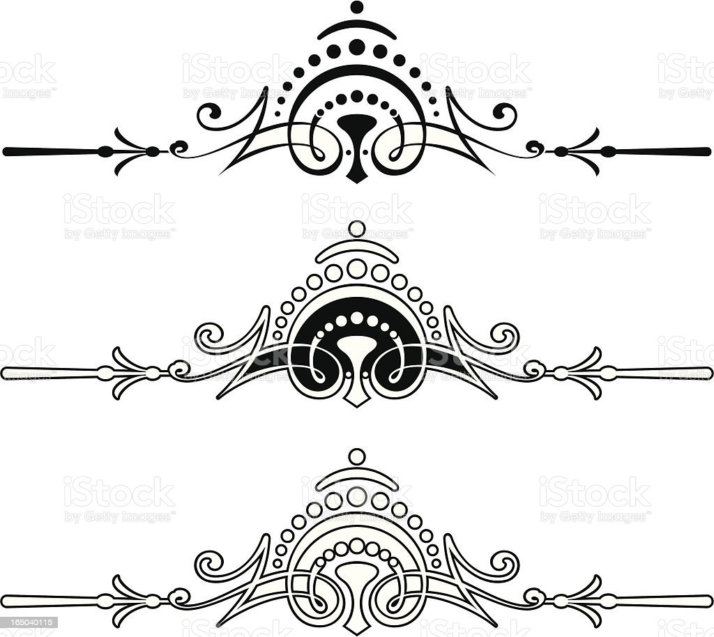 Ornate Centre Scrolls royalty-free stock vector art