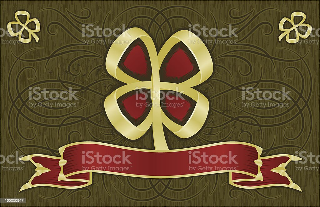 Ornate Clover Background royalty-free stock vector art