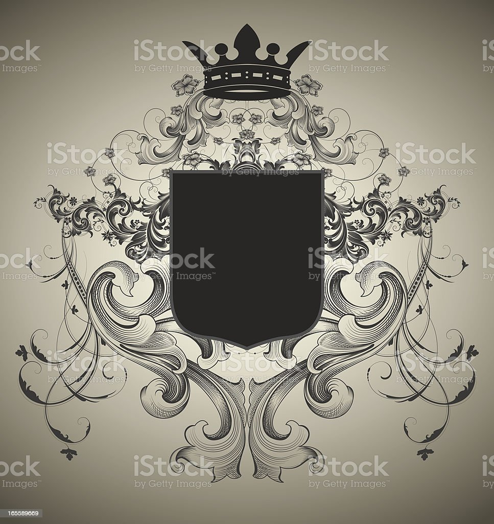 Ornate Coat of Arms royalty-free stock vector art