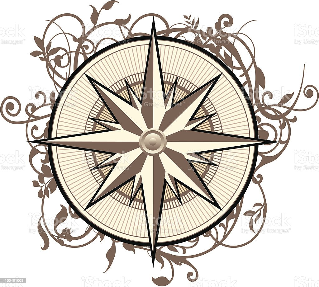 Ornate Compass royalty-free stock vector art