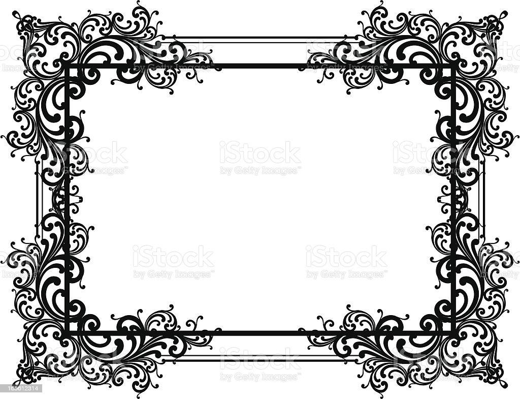 Ornate Corner Framework vector art illustration