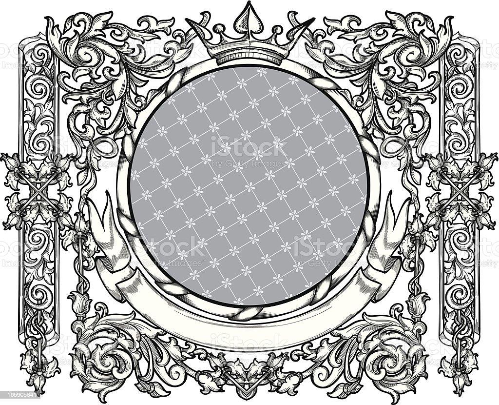 Ornate decorative blank royalty-free stock vector art