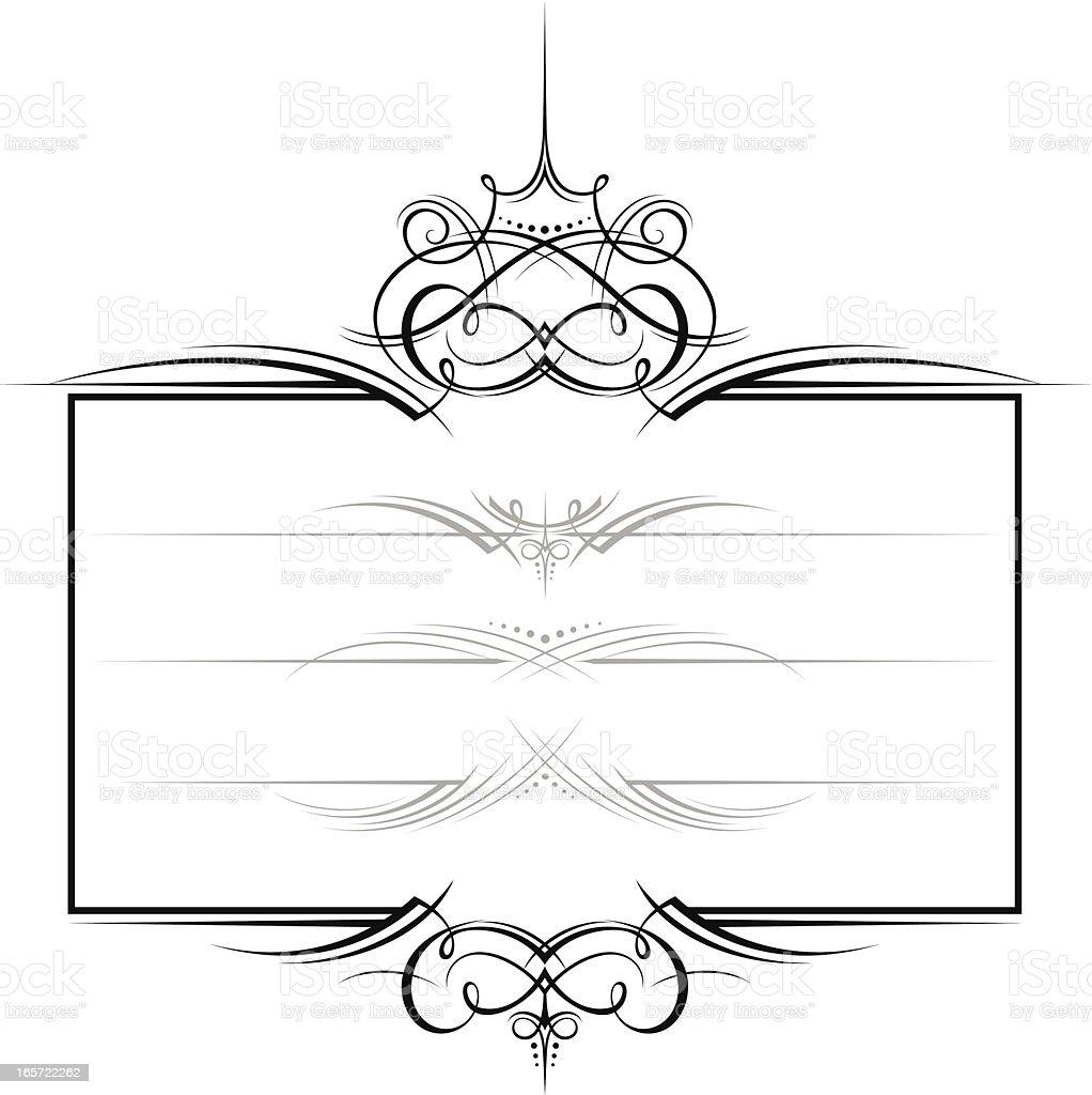 Ornate decorative frame royalty-free stock vector art