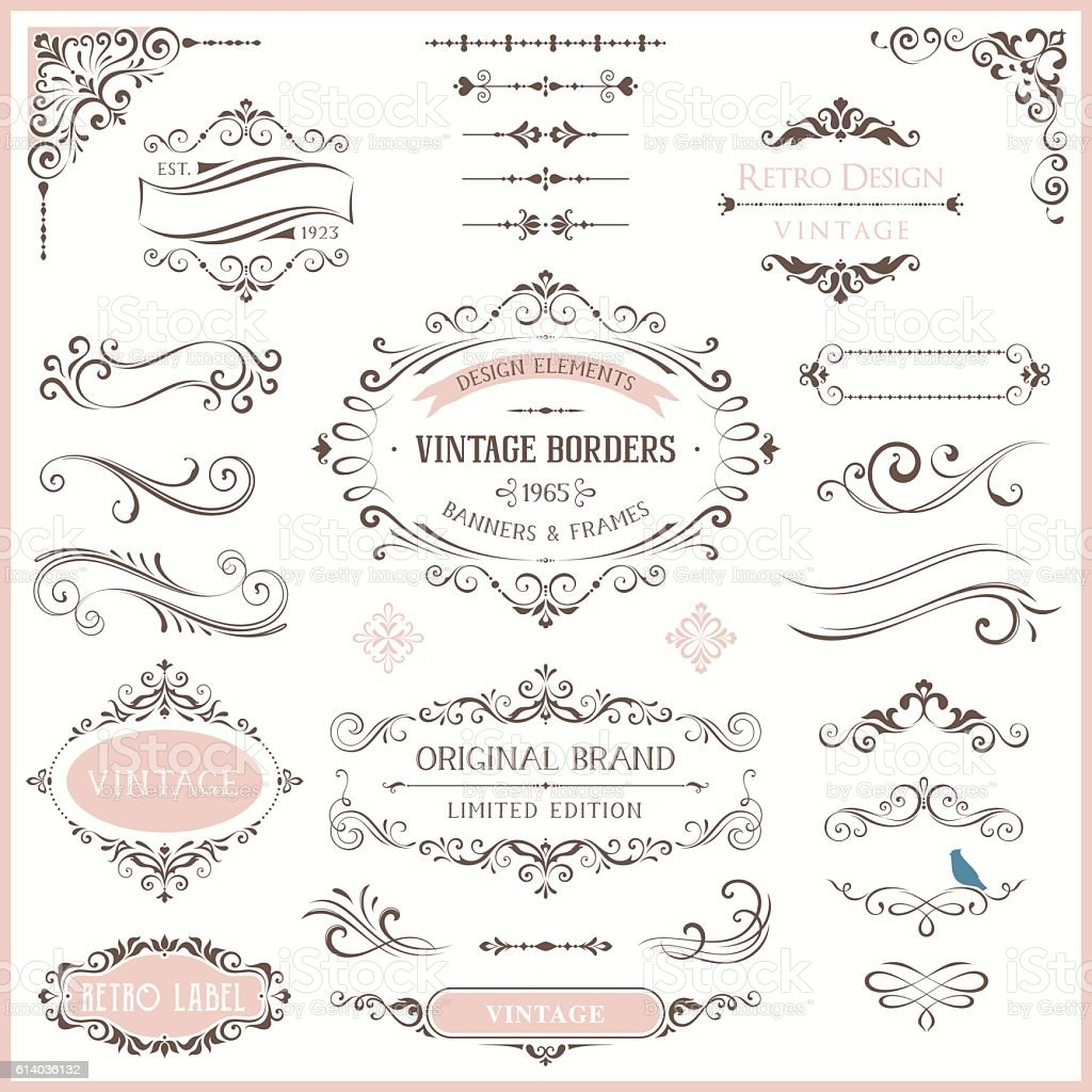 Ornate Design Collection vector art illustration