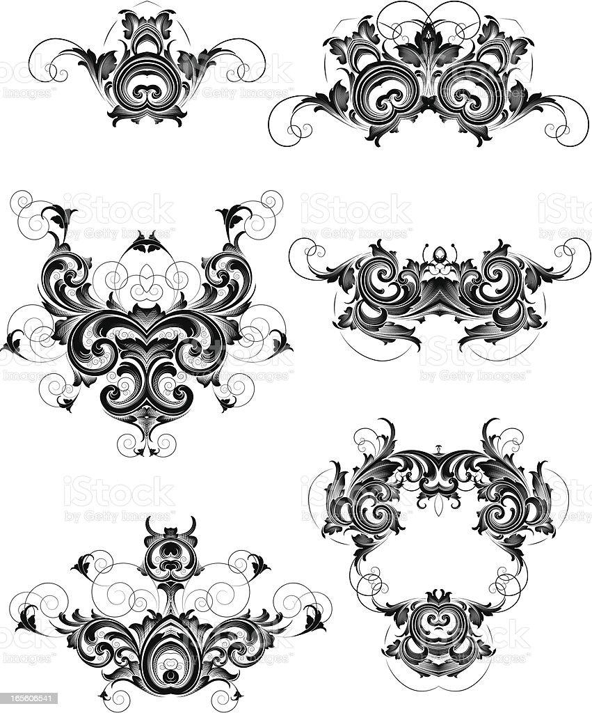 Ornate Design Elements royalty-free stock vector art