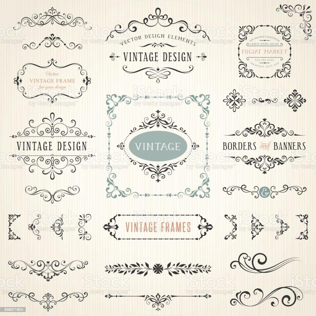 Ornate Design Elements_06 vector art illustration