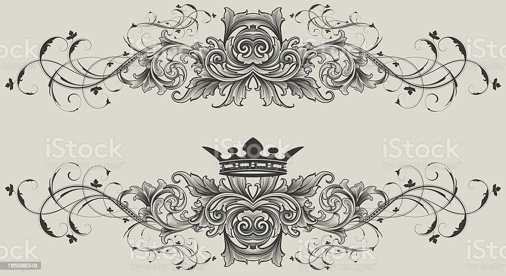 Ornate Dividing Elements vector art illustration