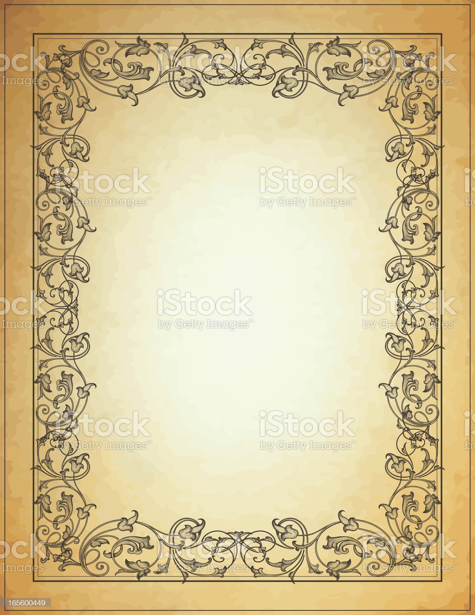 Ornate Dotted Arabesque Parchment royalty-free stock vector art