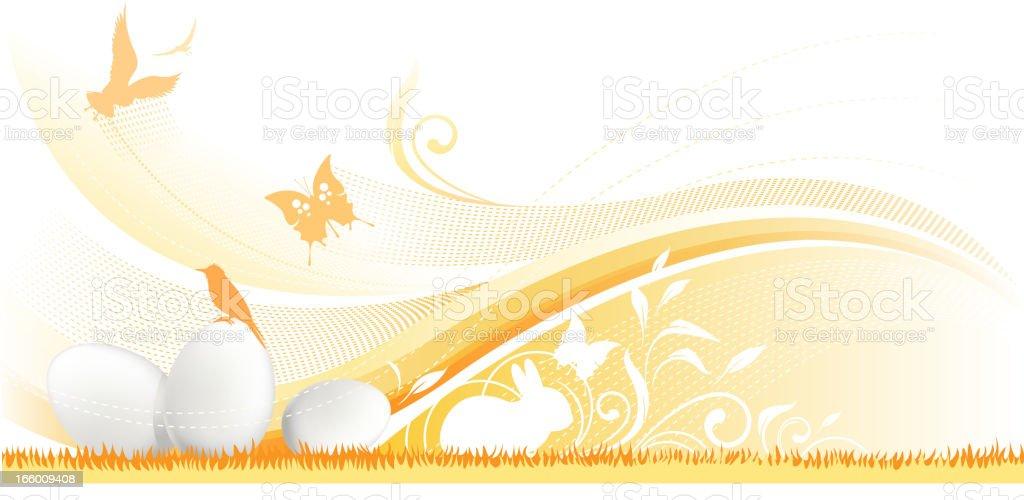 ornate easter egg backround royalty-free stock vector art