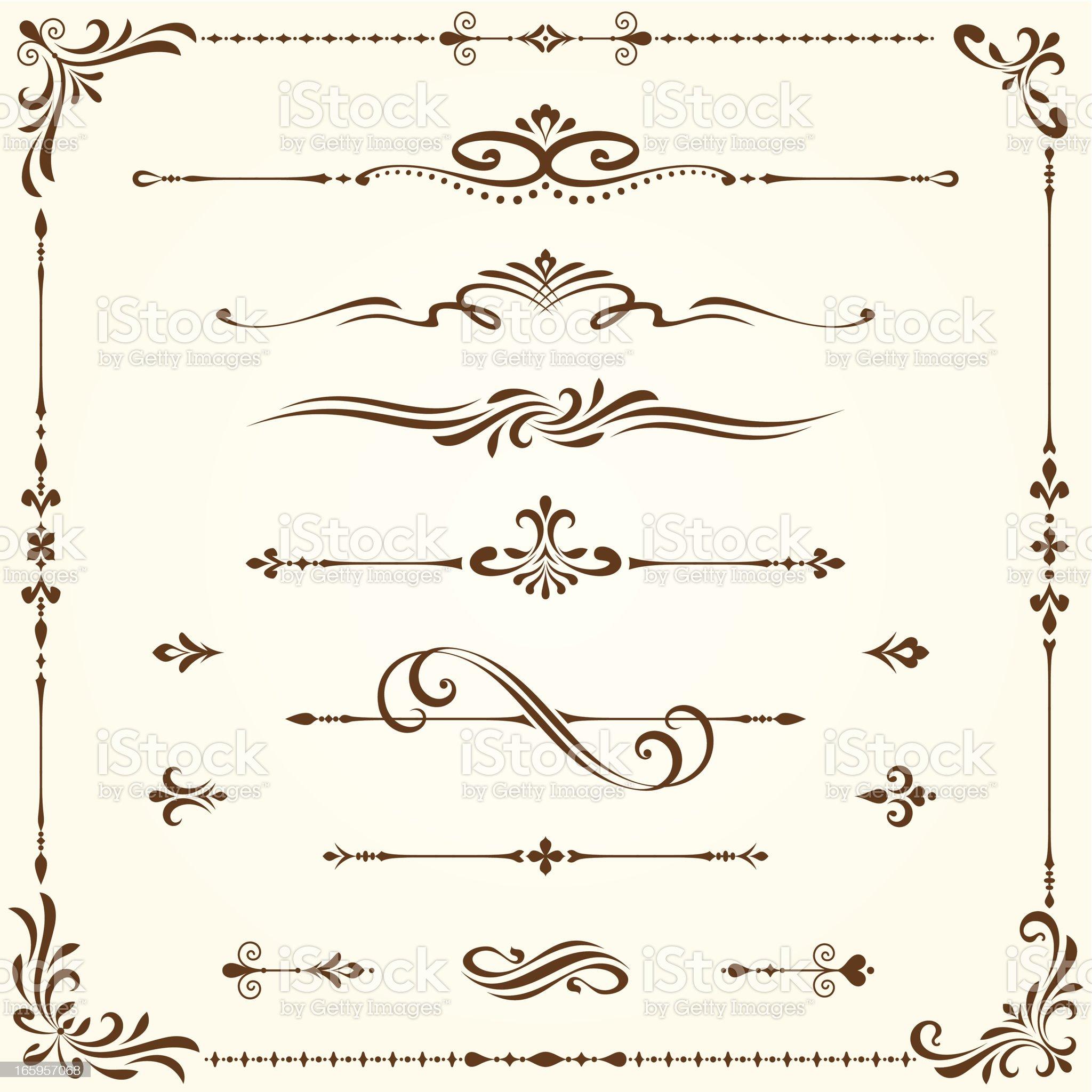 Ornate Elements Set royalty-free stock vector art