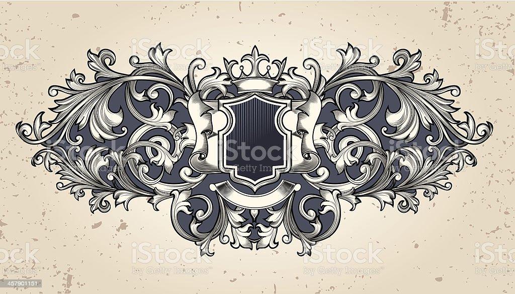 Ornate emblem royalty-free stock vector art