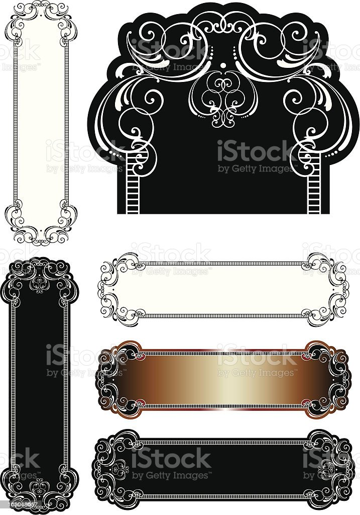 Ornate English Scrolls royalty-free stock vector art