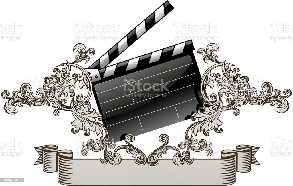 ornate film slate royalty-free stock vector art