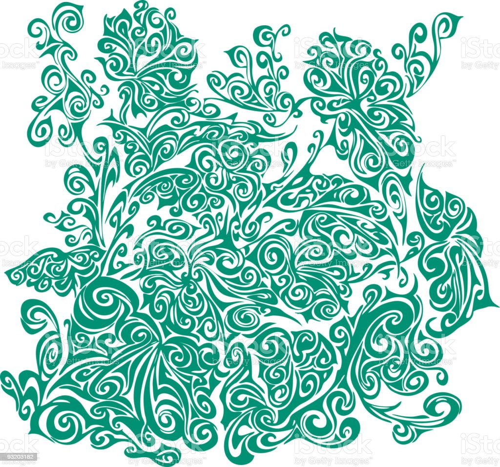 Ornate floral background vector art illustration