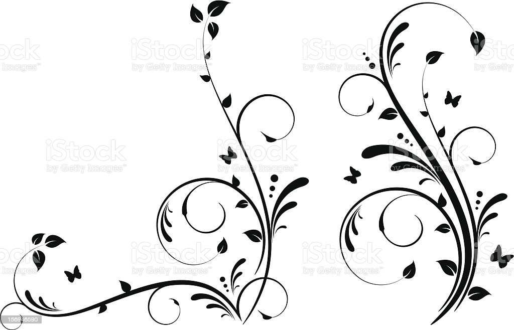 Ornate floral design royalty-free stock vector art