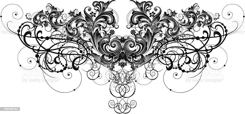 Ornate Floral Divider royalty-free stock vector art
