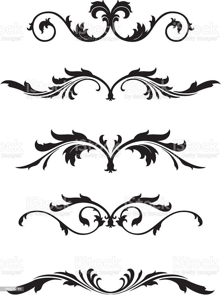 ornate floral motifs royalty-free stock vector art