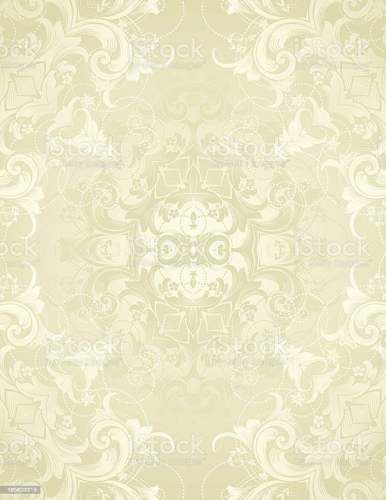 Ornate Floral Page scrollwork and flowers with copy space royalty-free stock vector art