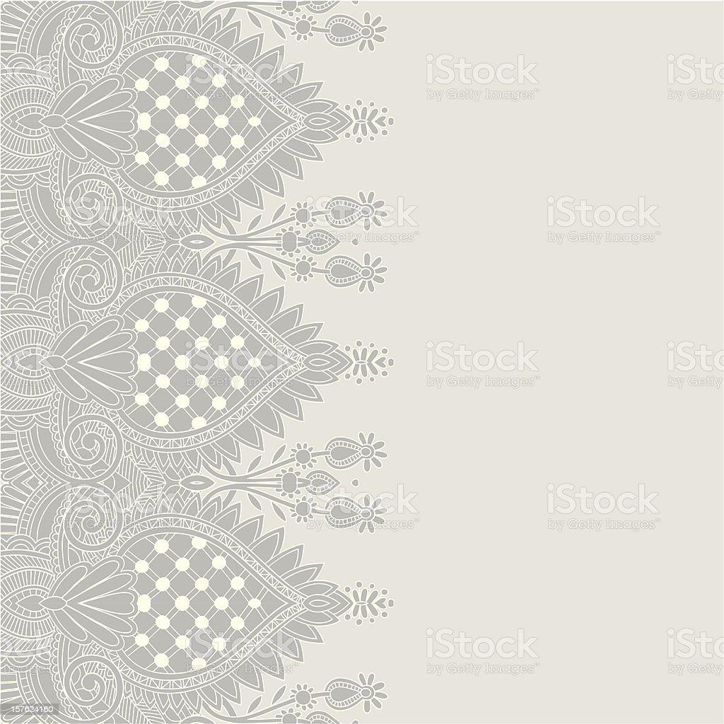 ornate floral pattern vector art illustration