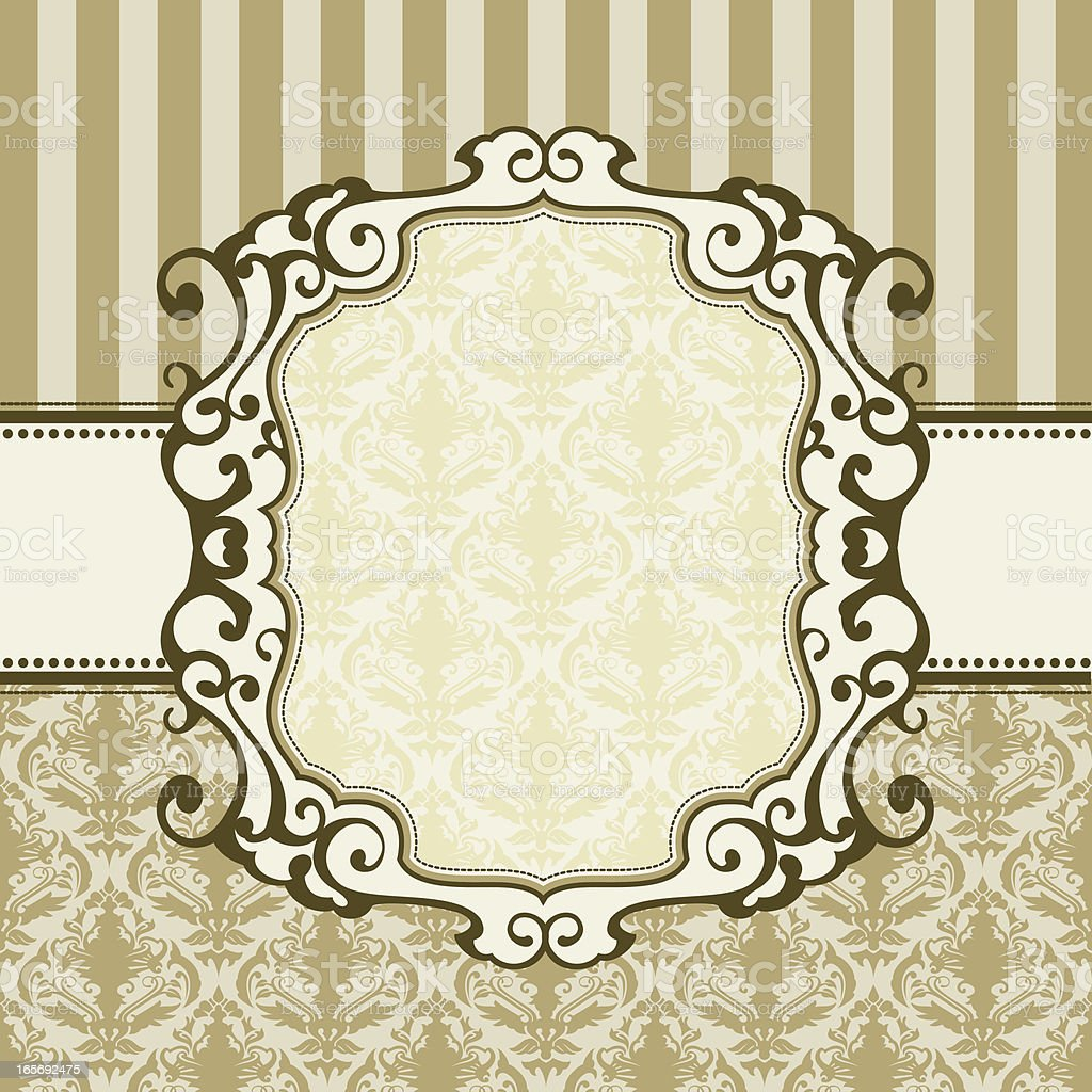 ornate flourish banner card royalty-free stock vector art