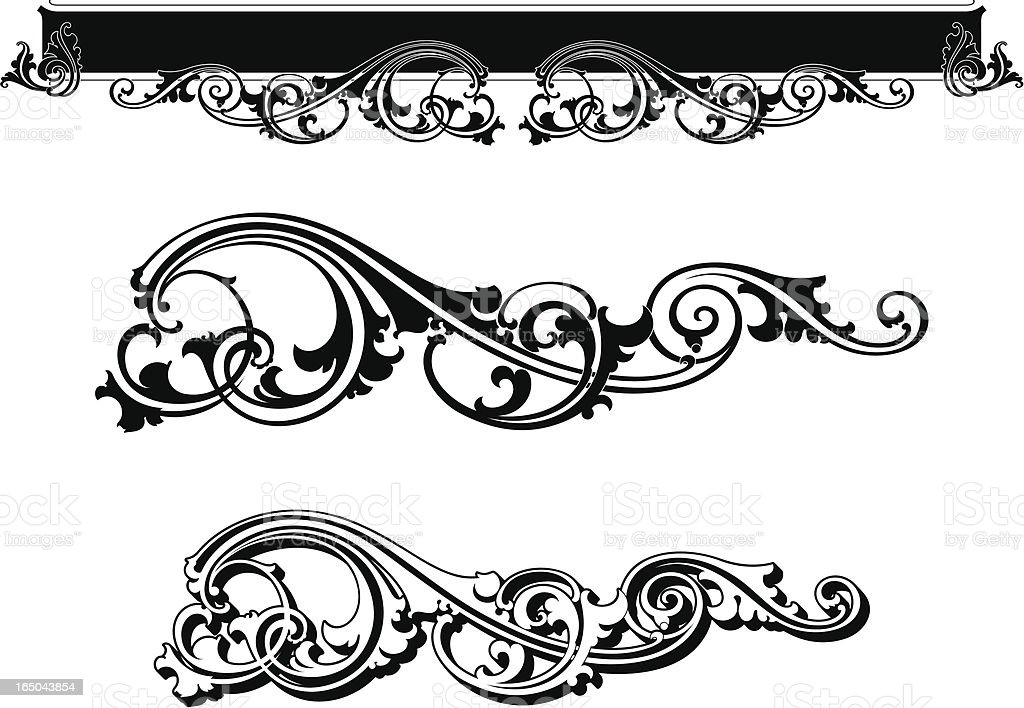 Ornate Flourishes royalty-free stock vector art