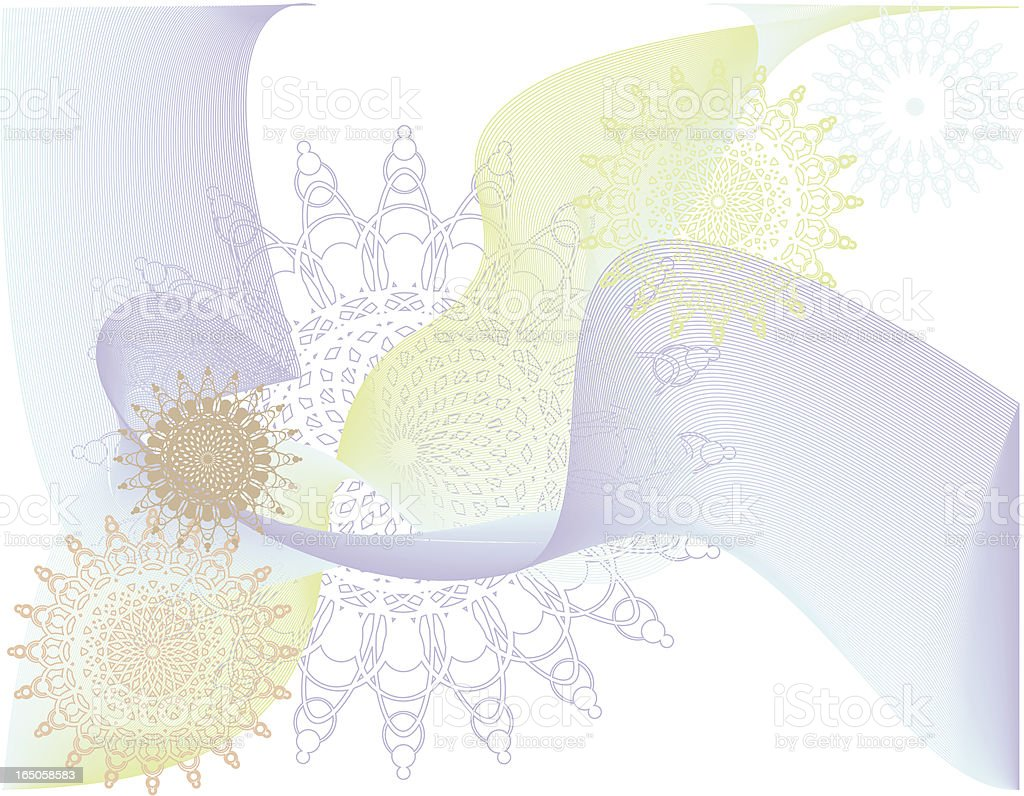 Ornate flowers and swirls royalty-free stock vector art