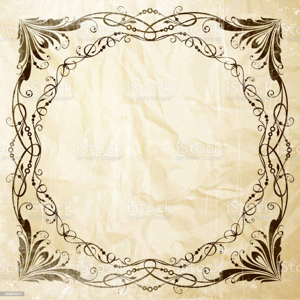 Ornate frame for invitations royalty-free stock vector art