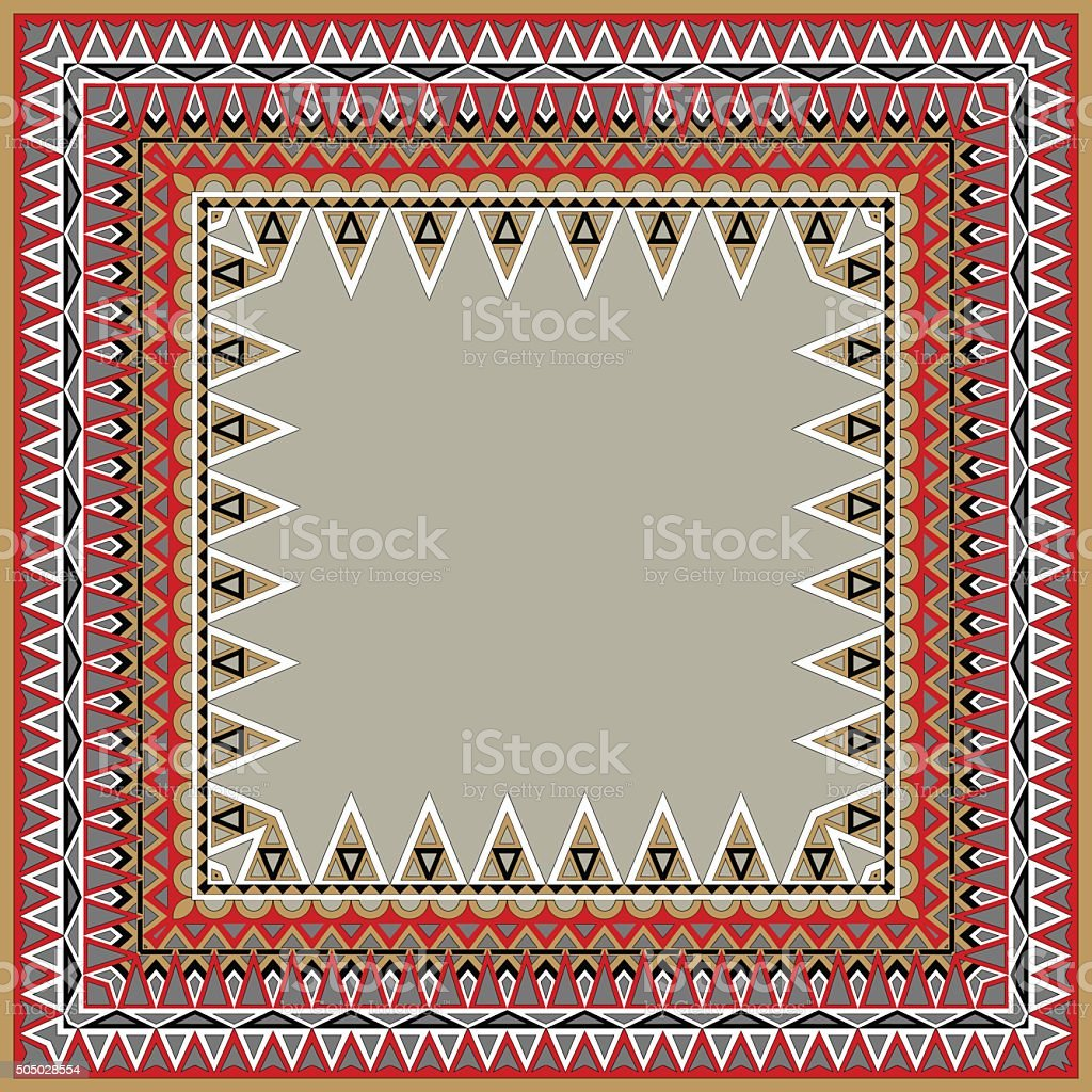 Ornate frame for pictures and text. Vector illustration. vector art illustration
