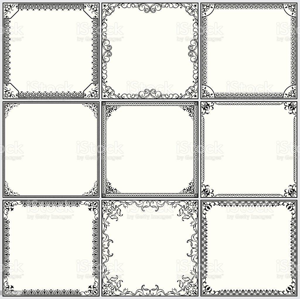 Ornate Frame Set royalty-free stock vector art